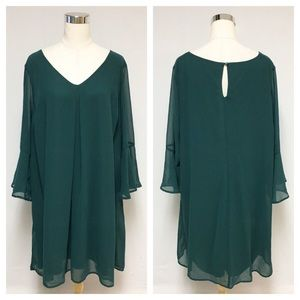 ➕ As U Wish Hunter Green Dress 10M
